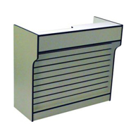 Ledgetop Counter with Slatwall Front Panel