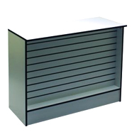Wrap Counter with Slatwall Front Panel