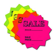 Fluorescent Sign Cards