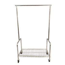 """36"""" L ROLLING RACK WITH SHELF"""