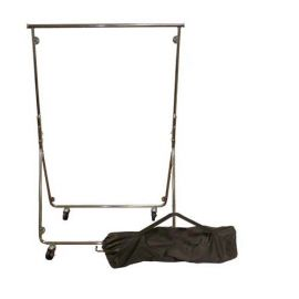 KNOCKDOWN GARMENT RACK WITH CANVAS CARRYING BAG