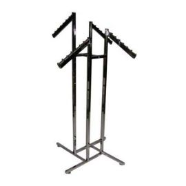 4-WAY SQUARE TUBE RACK WITH 4 WATERFALL FLAG ARMS