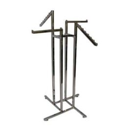 4-Way Square Tube Rack With 2 Faceout And 2 Waterfall Arms