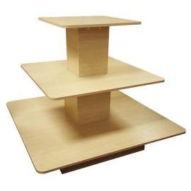"""3 TIER SQUARE TABLE - 48"""" L X 48"""" W X 42"""" H"""