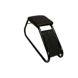 SHOE FITTING STOOL WITH BLACK PADDED SEAT