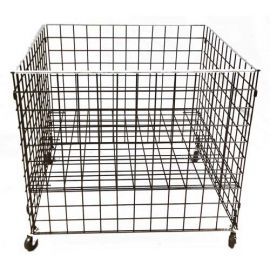 """36"""" L X 36"""" W X 30"""" H GRID DUMP BIN WITH CASTERS AND ADJUSTABLE SHELF"""