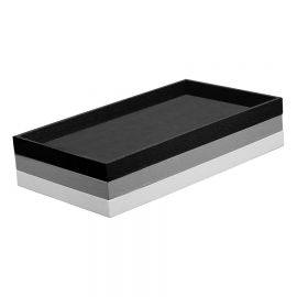 """1"""" H Standard Size Plastic Stackable Utility Tray / Black"""