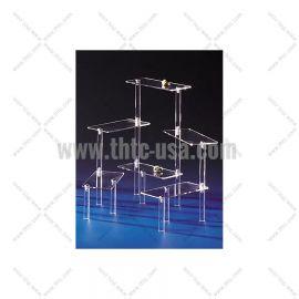 "Acrylic 11"" Multi Rectangular Platform Clear"