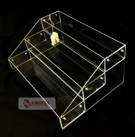 Acrylic Bin System 3-Tier 1-Compartment Clear