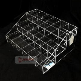 3-Tierwith6 Compartment Clear Acrylic Bin System Display