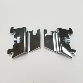 Chrome/Gridwall Offset Mounting Bracket Fits Most Slotted Standards. (Set Of 2)
