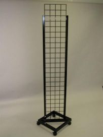 """Black/14""""W X 72""""H Grid Tower With Casters"""
