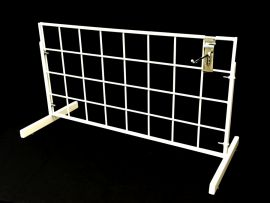 """White/Countertop 12""""X 24"""" Grid Display Double Wire All Edges For Horizontal And Vertical Mounting"""