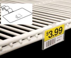 Fold-N-Hold Label Holder for Double Wire Shelf, 25 Pcs
