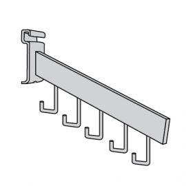 Chrome/5 Hook Waterfall Rectangular Tube For Gridwall