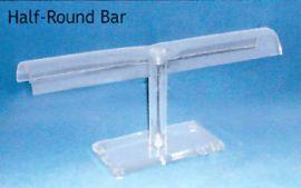 """Acrlyic Display Half Round Bar Clear, 11  1/2""""(W) X 5""""(H) / Clear"""