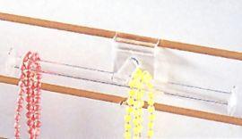 "Slatwall Acrylic T-Bar 10"" Clear"
