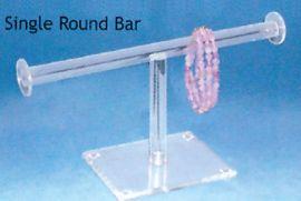 Acrylic Double Round T-Bar / Clear