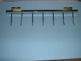 """Chrome/Flush Mount Belt Or Tie Display With 4"""" Hooks For Grid"""