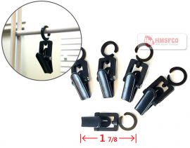 Black/Clever Clip With Ring To Fit Gridwall (1 Bag=100 Pieces)