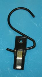 """White / Hanger Hook 3"""" Hook With 2"""" Clamp"""