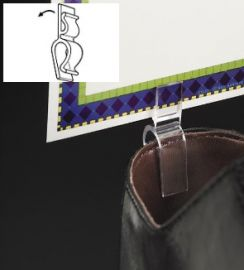 Swivo-Clip Shoe Clip Sign Holder, 50 pcs