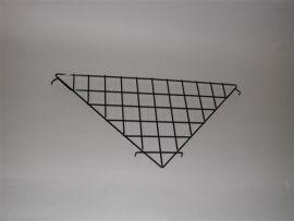 """Grid Triangular Shelf, 24"""" X 24"""" X 34 1/2"""", Chrome"""