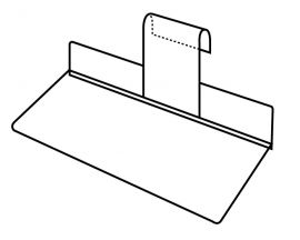 """Gridwall 4"""" X 10"""" Injection Molded Shoe Shelves / Clear"""