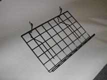 "24""(L) X 15""(D) Slant Shelf With Lip for Gridwall/Slatwall, White, Black, Chrome"