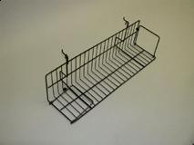 "23-1/2""(L) X 6"" D Video Shelf for Gridwall/Slatwall, White, Black"
