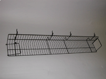 "47-1/2""(L) X 6""(D) Video Shelf for Gridwall/Slatwall, White, Black"