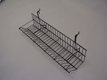 """23-1/2""""(L) Cd/Dvd Shelf With 5 Dividers for Gridwall/Slatwall, White, Black"""
