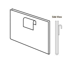 """Clear/7""""H X 5-1/2""""W Vertical Plexi Cardholder For Gridwall"""