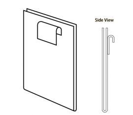 """Clear/11""""H X 7""""W Vertical Plexi Cardholder For Gridwall"""