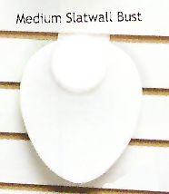Medium Slatwall Neck Form Display White - Faux Leather / White