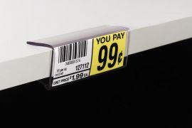 THD145 Wood Shelf Ticket Holder