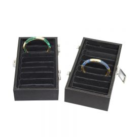 Bangle Display Tray Small Velvet Insert W/ Tray / Black