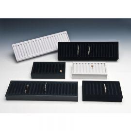 Bangle Display Tray Large Velvet Insert W/ Tray / Black