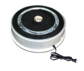 """Electrical Turn Table, 7 3/4""""(D) X 2 1/4"""" (H)"""