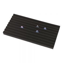 Tray Insert Continuous Slot Ring 8 Section Velvet / Black