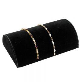 "Bracelet Display Half Moon 8"" Velvet / Black"