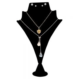 """Double Pointed Combination Jewelry Display 8 1/2 """"(H) / Black"""