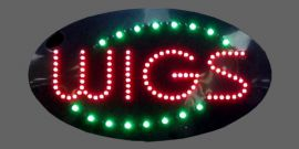 Animated Led 'Wig' Signs