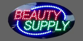 Animated Led 'Beauty Supply' Signs