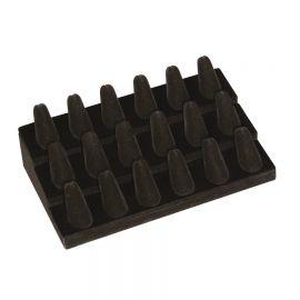 18-Finger Ring Stand 3 Tier - Velvet / Black