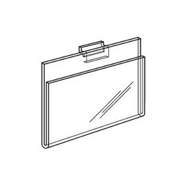 """8 1/2"""" H X 11"""" W HORIZONTAL CARD HOLDER For Slatwall and Gridwall"""