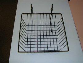 """12""""(L) X 12""""(D) X 4""""(H) Gridwall/Slatwall Basket / White, Black, Chrome"""