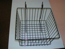 """12""""(L) X 12""""(D) X 8""""(H) Gridwall/Slatwall Basket / White, Black, Chrome"""