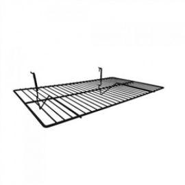 "24""(L) X 14""(D) Shelf No Lip for Gridwall/Slatwall, White, Black"