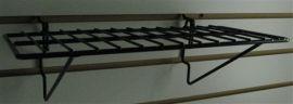 "14""(L) X 6""(D) Shelf No Lip for Gridwall/Slatwall, White, Black"